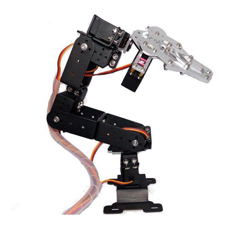 High Quality DIY 6DOF Metal Mechanical Arm Kit Robot Arm 3D Rotating Machine Kit DiY Robot for Arduino(China (Mainland))