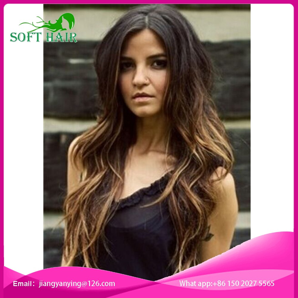 ombre glueless lace front human hair wig 1