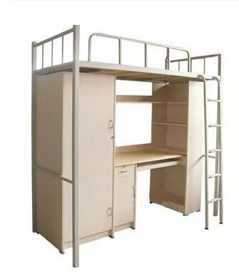 Thickening double iron bed school bed, construction site a steel bed, dormitory bed with wardrobe and desk shoe ark(China (Mainland))