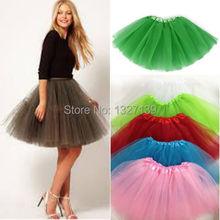 Fashion Women Girl Tulle Tutu Mini Organza 3 layere Party Skirt underskirt(China (Mainland))