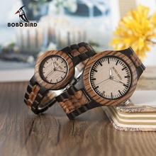 Buy BOBO BIRD N28N30 Zebra Ebony Wooden Watches Men Women Two-tone Quartz Lovers Watch Tool Adjusting Size Wood Box for $23.75 in AliExpress store