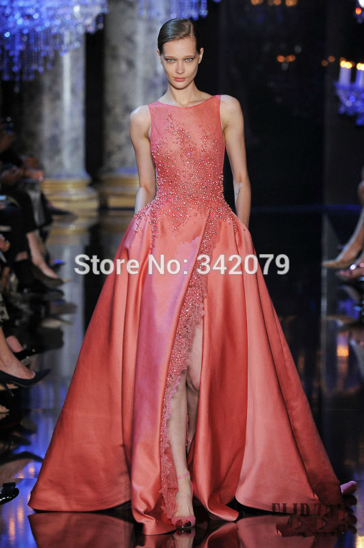 Buy ph1196 pink gown lace satin duchess for Where to buy haute couture dresses