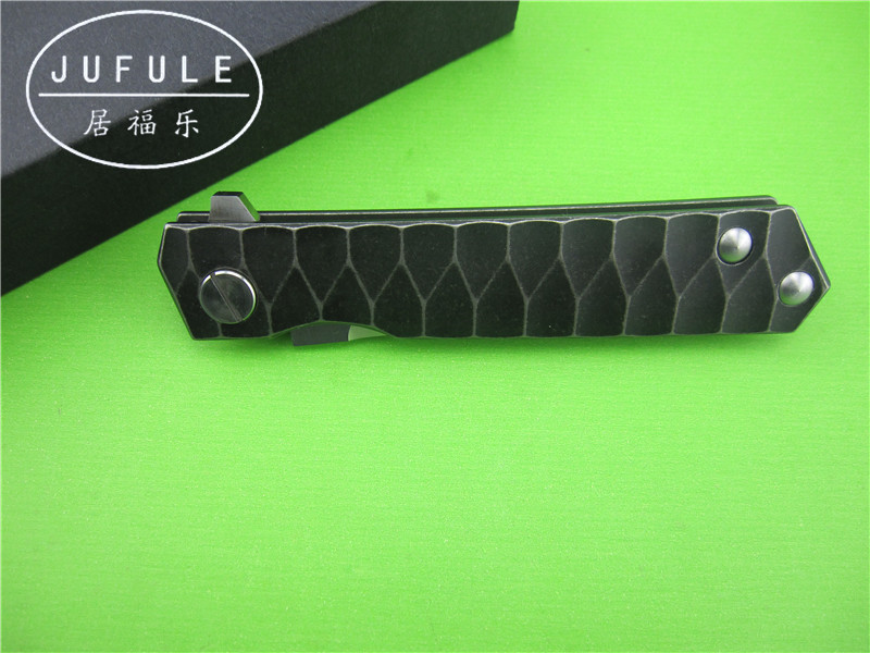 Buy JUFULE The new Samurai knife titanium alloy bearing D2 multifunctional bearing system of outdoor tactical folding knife knife cheap