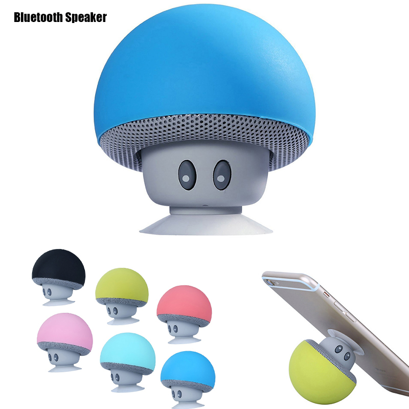 Creative Small USB Gadgets Functional Portable Mushroom Hands free Wireless Bluetooth USB Speaker and phone stand holder