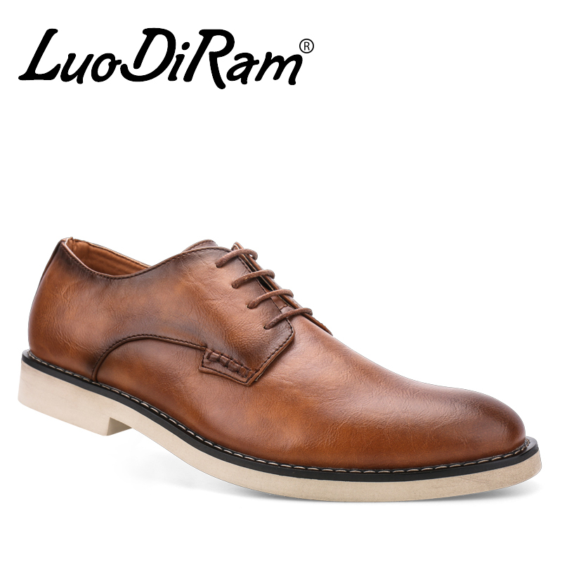 LuoDiRam Brand PU Leather Men Oxford, Oxford Shoes For Men, Leather Men Wedding Shoes, High Quality Men Dress Shoes(China (Mainland))