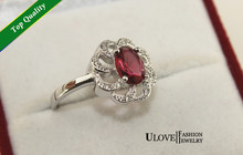 Red Ruby Simulated Diamonds Fashion Wedding Engagement Bridal the Rings O for Women Spring 2014 Ulove