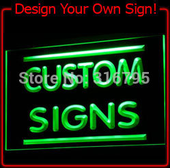Tm sign design your own led light sign custom neon led for Design your own house sign