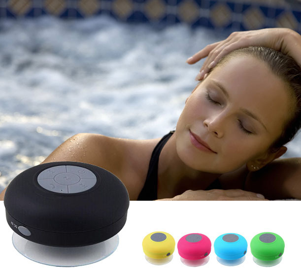 Bluetooth Speaker Shower Car Handsfree Receive Call With Suction Cup Mic Waterproof Speakers(China (Mainland))