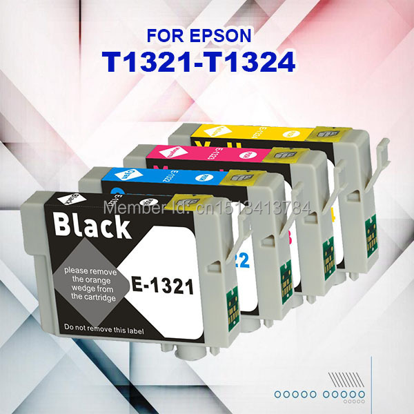 4Pk T0321-T0324, Ink Cartirdge Epson chip ISO9001 Stylus Printer  -  Soldoffice Store store