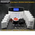 2017 New Hot Selling Free Shipping Wireless GSM Alarm System LCD Keyboard Door Winodw PIR Sensor