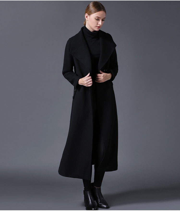 Long Black Winter Jacket - Coat Nj