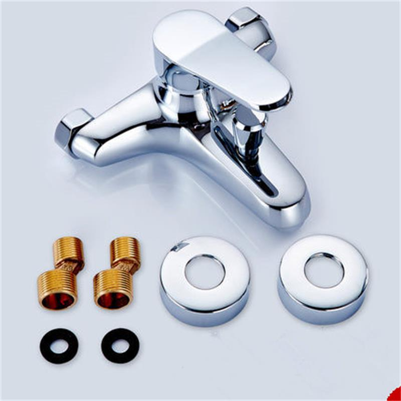 LANGPAI Bathroom Accessories Shower Faucet Brass Modern Wall Mounted Bathroom Bath Tap Cold and Hot Water Tap Bathtub Faucet(China (Mainland))