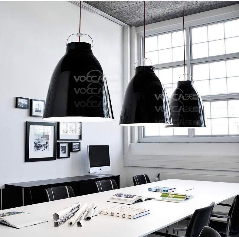 Netmodern Dining Light : Free Shipping One light New Modern Lamp Black Shade Dining Room Master ...
