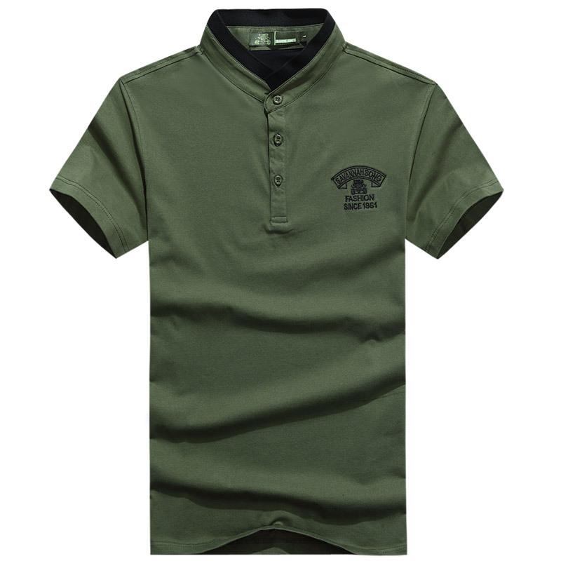 2015 styles men 39 s t shirts short sleeves stand collar men