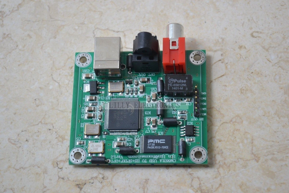 Hi-Fi CM6631A 192KHZ to Coaxial Optical SPDIF Convertor DAC Board 24bit USB 2.0(China (Mainland))