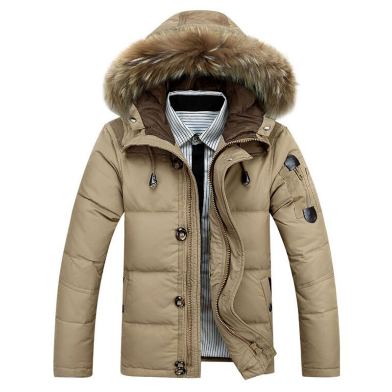 2016 Men Hooded Jacket Coat Thick Winter Jackets Warm Duck Padded Packable Parka M-XXXL outwear Sportswear - Baron Fashion store