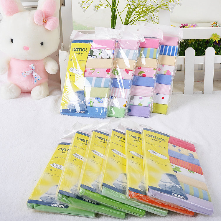 2016 Bedding Set Toalha De Banho 8pcs/ Pack Washcloths Baby Towel 100% Newborn Cotton Bath Waste-absorbing Soft And Comfortable(China (Mainland))