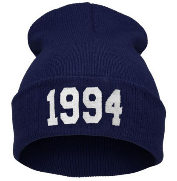 9 Colors Fashion Letter Hats for Women Cap Casual Hat 1994 Knitted Wool Cap Men Male