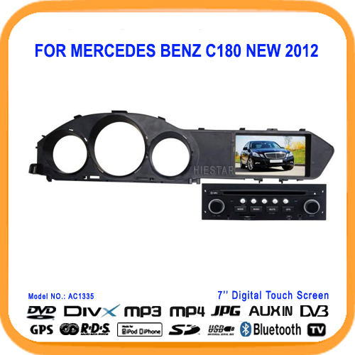 Car DVD Player For MERCEDES BENZ C180 NEW 2012 With Built-in GPS Navigation Radio AM/FM USB/TF MP3 BT Gifts(Hong Kong)