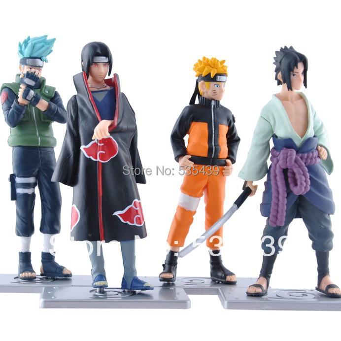2014 NEW Hot 4 PCS/set Naruto 12cm kakashi itachi sasuke Anime Assortment Figures Set 19th Generation Collection Model toy - Shenzhen China Good Service Best Price store