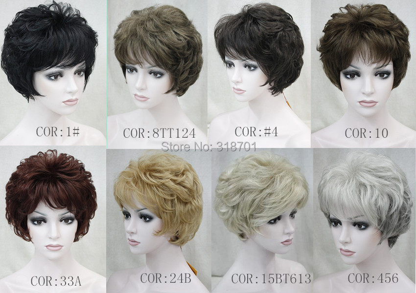 Гаджет  Highest Grade Short Curly Synthetic Hair Wig New Hairstyle Trends for 2015 many color for you choose Free shipping None Волосы и аксессуары