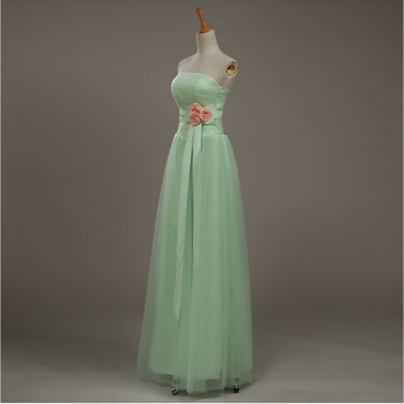 2016 fresh mint green long bridesmaid maid of honor lace for Maid of honor wedding dress