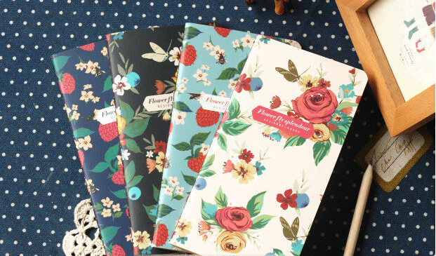 Free shipping!Creative Vintage  Flower  notebook<br><br>Aliexpress