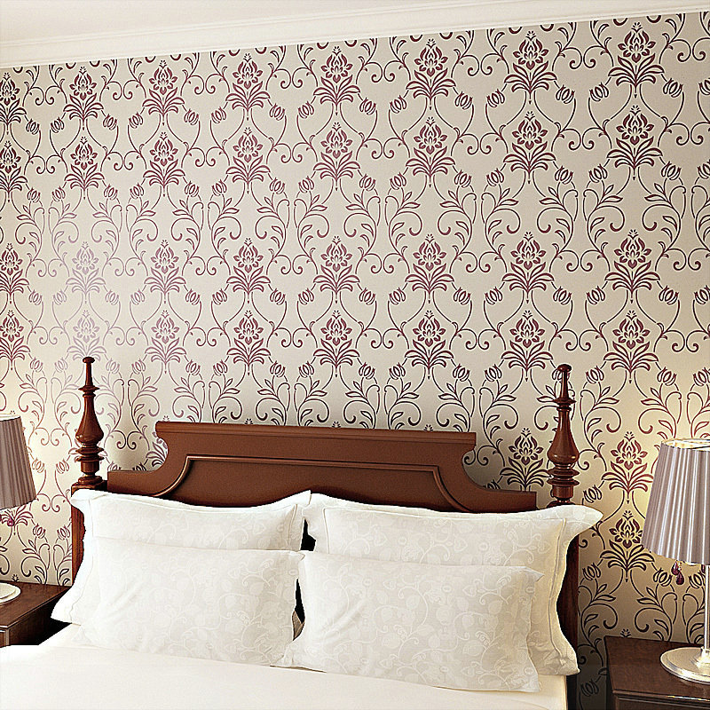 Floral Wallpapers Fashion Vinyl Walls Wallpaper Roll Embossed Tv Background Wall Paper Modern