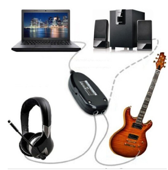 2015 high quality Ultimate Promotion to USB Interface Link Audio Guitar Cable PC for MAC Recording Amp Adapter Hot Free Shipping(China (Mainland))