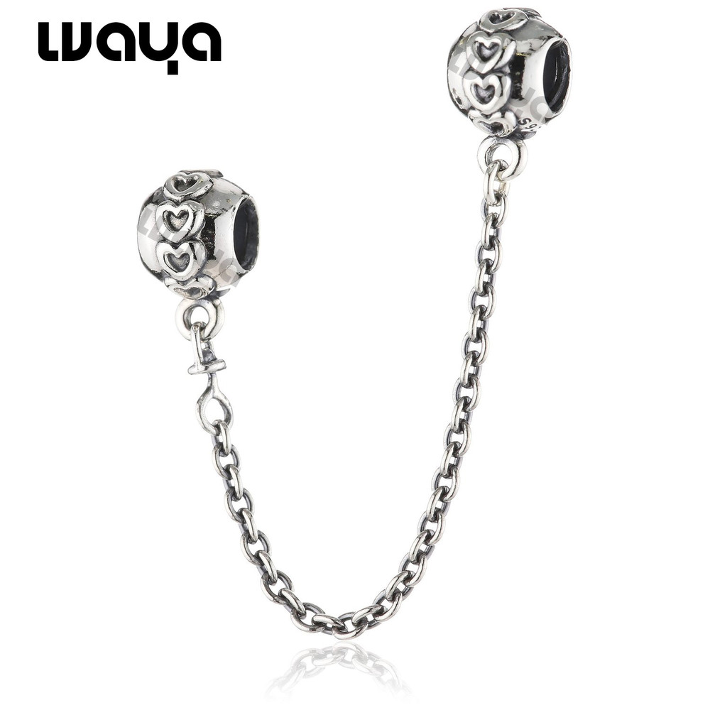 Free shipping 2014 Safety chain Hearts 925 sterling Silver charm bead for Charms beads Bracelet Snake chain Necklace Bangle X812<br><br>Aliexpress