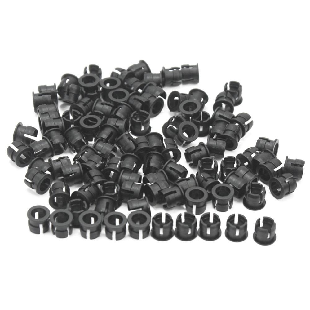 100pcs Industrical 5mm Black Plastic LED Clip Holder Display Panel Case New(China (Mainland))