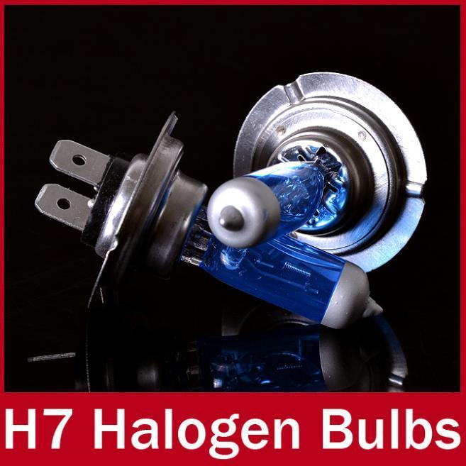 2PCS H7 Halogen Bulb 12V 100W 5000K Super White Quartz Glass Xenon Dark Blue Car HeadLight Lamp FREE SHIPPING(China (Mainland))