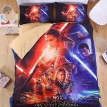 Star Wars 3D Bedding Set Print Duvet cover Twin queen king Beautiful pattern Real effect lifelike bed sheet linen(China)