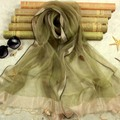 High Quality 100 Silk Scarf Sale Solid Adult Fashion Foulard Women Scarf New Double Hit Color