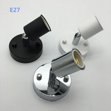 Universal 180 Degree Steering E14 E27 Lamp Holder High temperature resistant ceramic screw Lamp Base(China (Mainland))