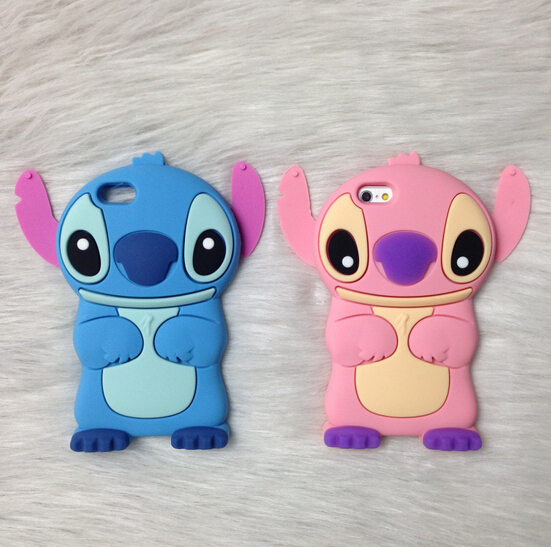 2015 New Products 3D Cartoon Stitch Design For iPhone 6 Case Free Shipping Phone Cases For iPhone 6(China (Mainland))