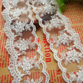 Novelty DIY 20 yards lot Width 4 5cm milk white mesh lace fabrics Wedding tablecloth curtains
