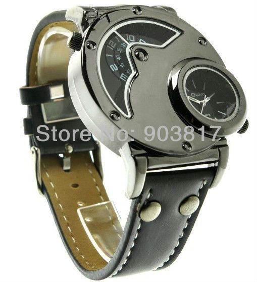 Здесь можно купить  10pc/lot FreeShipping!Original Brand New Russian Aviator Pilot Army Military Quartz Mens Watch Dual time black leather band  Ювелирные изделия и часы