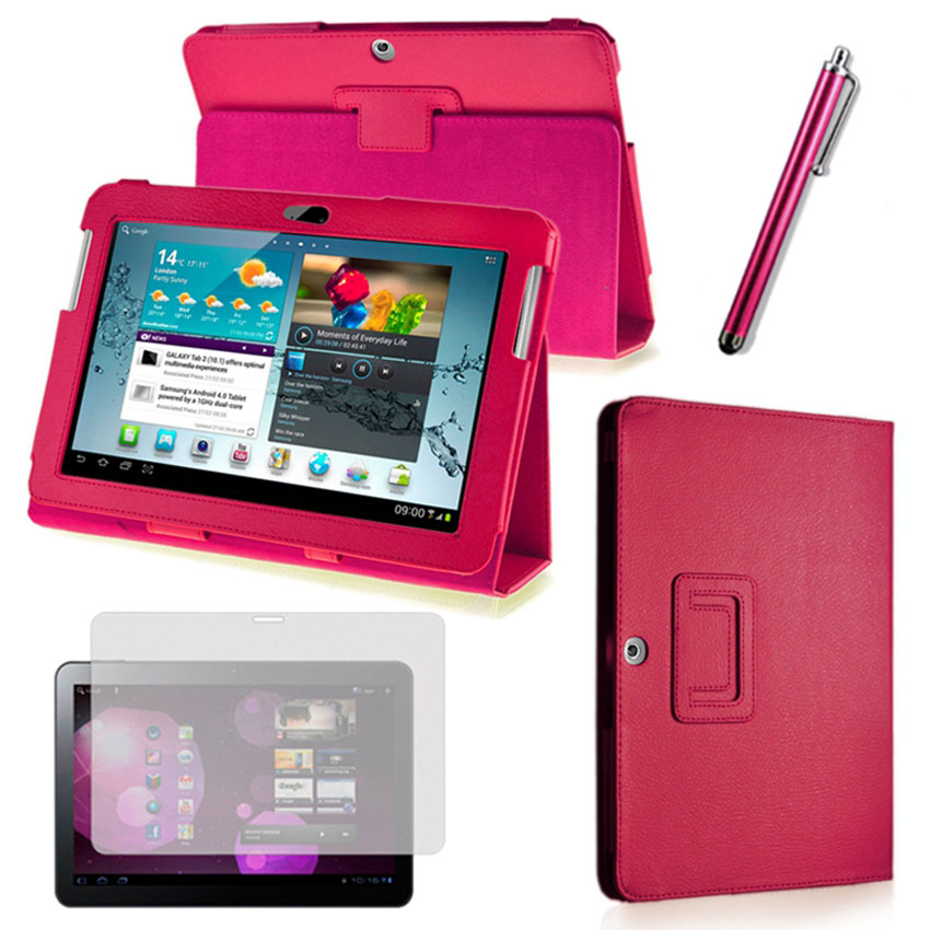 3 1 PU Leather Stand Cover Case Samsung Galaxy Tab 10.1 inch P5200 P5210 +Stylus Pen+Screen Protector - E-Fly Electronic co., LTD store