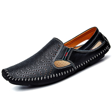 Buy XX Brand 2017 Genuine Leather Men Driving Shoes Summer Breathable Flat Loafers Comfortable Handmade Moccasins Plus Size 38-47 for $21.06 in AliExpress store