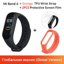שיאו mi mi Band 4 חכם צמיד 3 AMOLED צבע מסך mi band 4 קצב לב כושר Bluetooth ספורט 50ATM עמיד למים SmartBand(China)