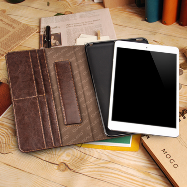 QIALINO Ultra Thin Magnetic Smart Cover For Apple iPad 2 3 4 genuine leather case(China (Mainland))