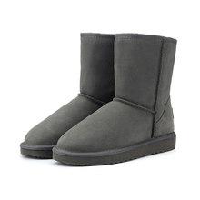 HABUCKN Hakiki deri süet kış kar botları kadınlar için gerçek koyun kürk yün astarlı kışlık ayakkabı yüksek kalite kahverengi siyah(China)