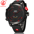 OHSEN Analog Digital LED Date Day Alarm Men s Sports Diver Outdoor Quartz Silicone Strap Wrist