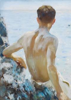 "Здесь можно купить  TOP ART --original Beach  nude man men MALE art -high quality art oil painting -36 "" hand painted painting - free shipping cost  Дом и Сад"