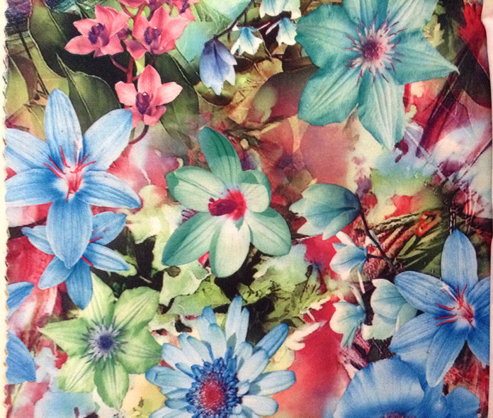 150cm wide floral motif printed single jersey fabric,unfleece finishing,soft and tender touch,XERY-A1037(China (Mainland))