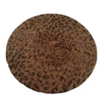 Элегантная леопардовая теплая шерсть Демисезонный Зимний берет Для женщин французский художник Beanie BERET шапка для женский берет шляпу(China)