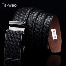 Buy Fashion Genuine Leather Cowhide Automatic Buckle Belt Designer Belts Men High Ceinture Homme Luxury Jeans Waistband for $12.56 in AliExpress store