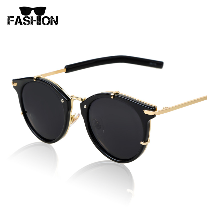 Fashion New Woman Sunglasses 2016 Round Metal Frame Mens ...