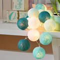 20Pcs/lot Christmas String light Garland Cotton Ball String light For Christmas Home Weeding Decoration Light